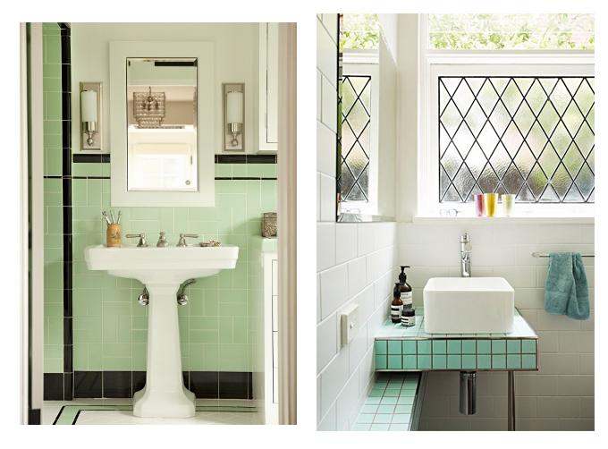 em aime inspiration minty fresh salle de bain style art deco - Salle De Bain Art Et Decoration
