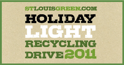 St.Louise Green Christmas light recycling