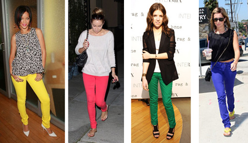 Colored Jeans Women Photo Album - Fashion Trends and Models