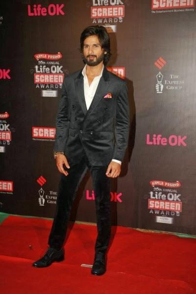 Shahid Kapoor Life OK Screen Awards 2014