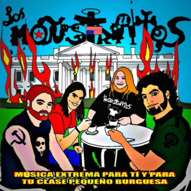 Nuevo disco de Los Monstruitos - Música extrema para tí y tu clase pequeño burguesa Portada+web