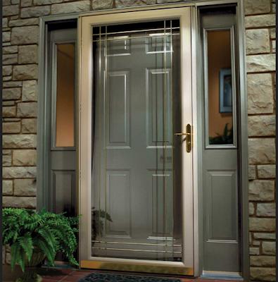 pintu rumah minimalis alumunium