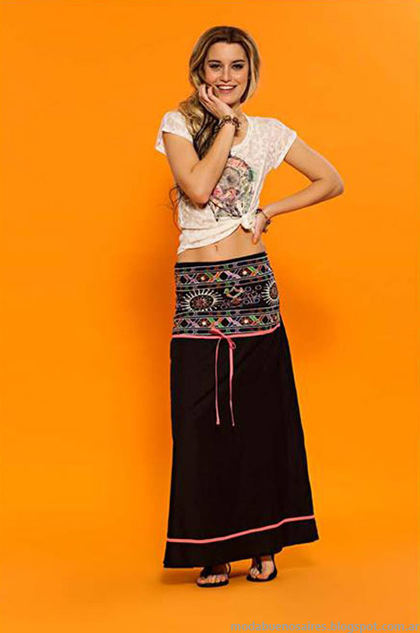 Faldas de moda verano 2015, looks Sophya verano 2015.