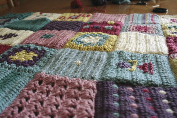 Coperta patchwork facilmente uncinetto fiori