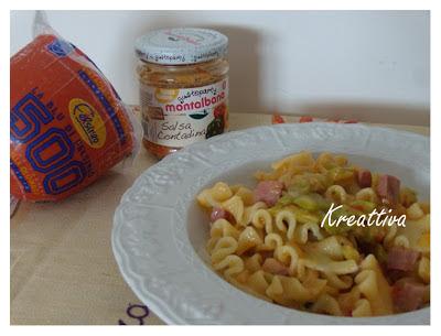 ricetta con pasta zucchine e mortadella