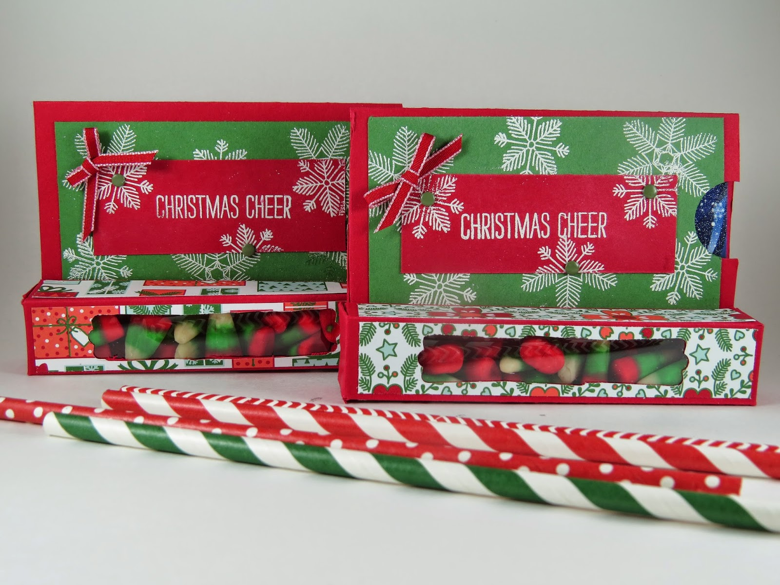 Stampingwithamore: Christmas Cheer Gift Card/Treat Box