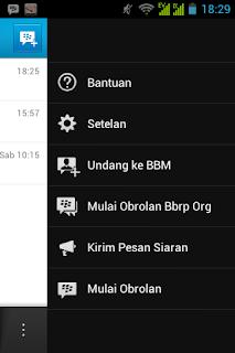 cara bc bbm android