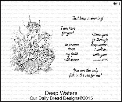 Our Daily Bread Designs Stamp set: Deep Waters