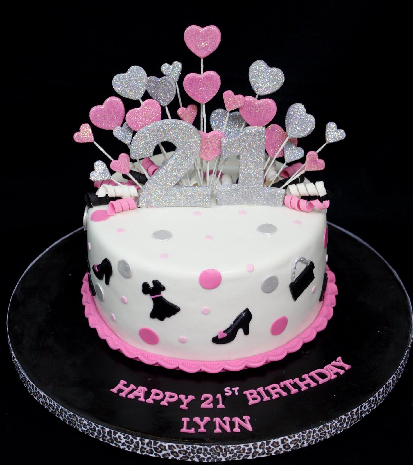 Complete Deelite Fashion Glitter 21st Birthday Cake