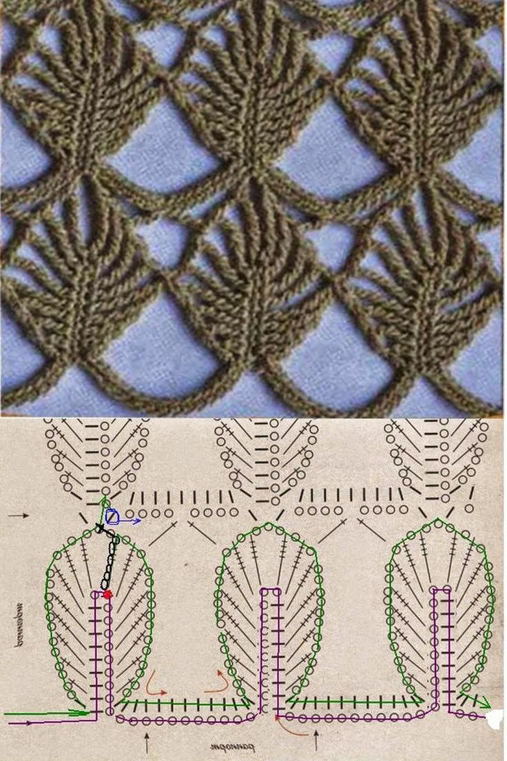 Nuevo punto para tejer al crochet