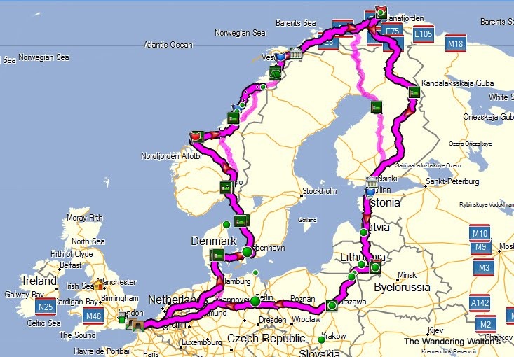 The Wandering Waltons Route Planning with Raymondo The Devil is – Interactive Europe Map Travel Planner