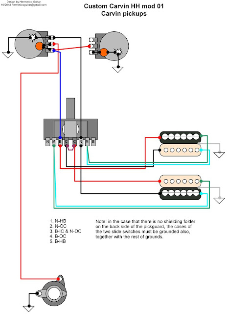 hermetico guitar wiring diagram carvin custom hh 01 HSS Pickup Wiring Diagram HSS Pickup Wiring Diagram