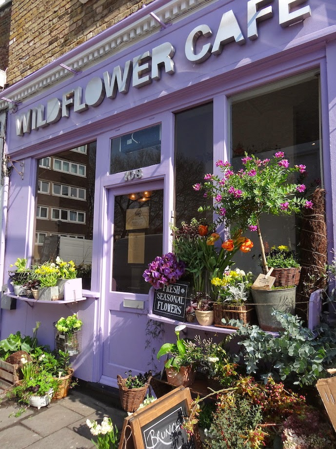 Wildflower Cafe Notting Hill Flowers in the Front