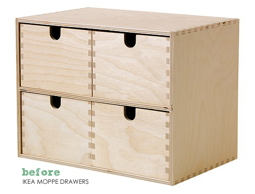 ikea card file drawers hack the painted hive. Black Bedroom Furniture Sets. Home Design Ideas