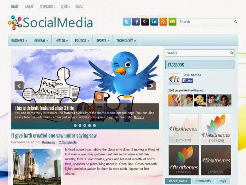 SocialMedia - Free Wordpress Theme