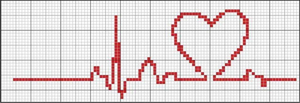Вышивка черного сердца - бесплатные схемы вышивки крестом на.