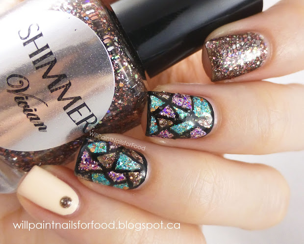 shimmer polish vivian stained glass
