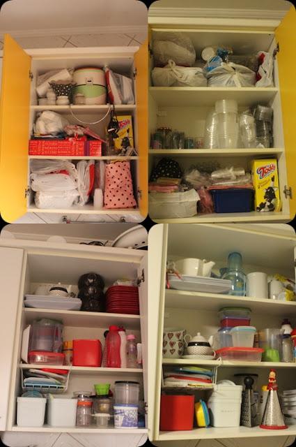 organizando armário