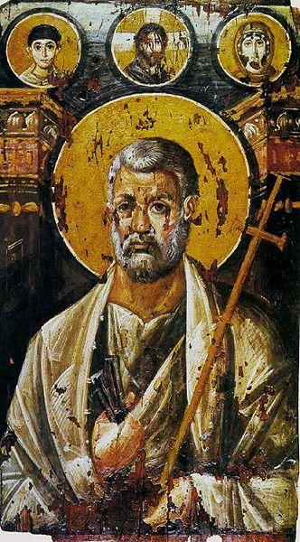 Icono de San Pedro en el Sinaí, s. VI.
