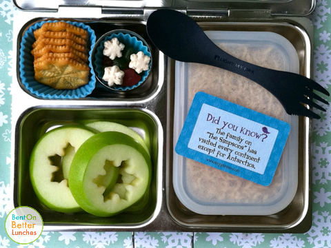 Snowflake PlanetBox bento school lunch