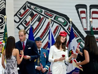 William and Kate, the Duke and Duchess of Cambridge, greet newly sworn in Canadian citizens during a citizenship ceremony on Friday, July 1, 2011 in Gatineau, Canada.
