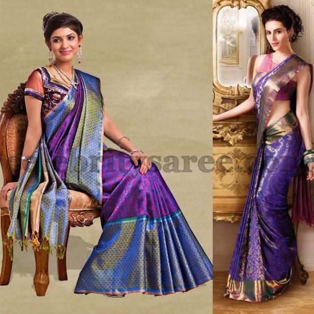 Purple Bridal Sarees by Women's World