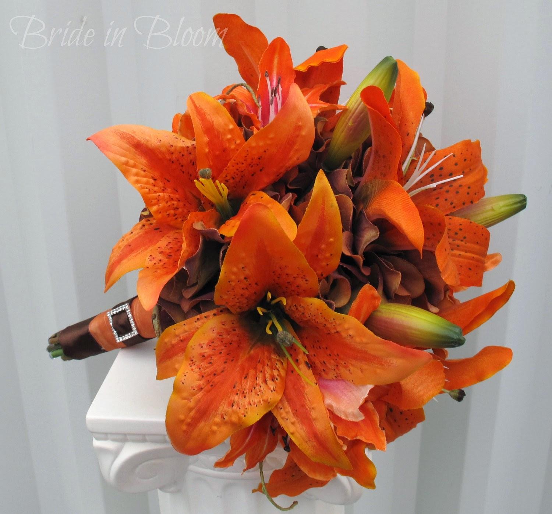 Orange Lily Flower Bouquets Fresh Flowers