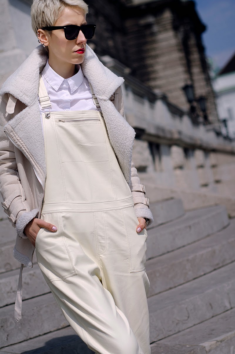 white leather dungarees front row shop beeswonderland