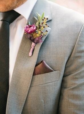 matching boutonniere