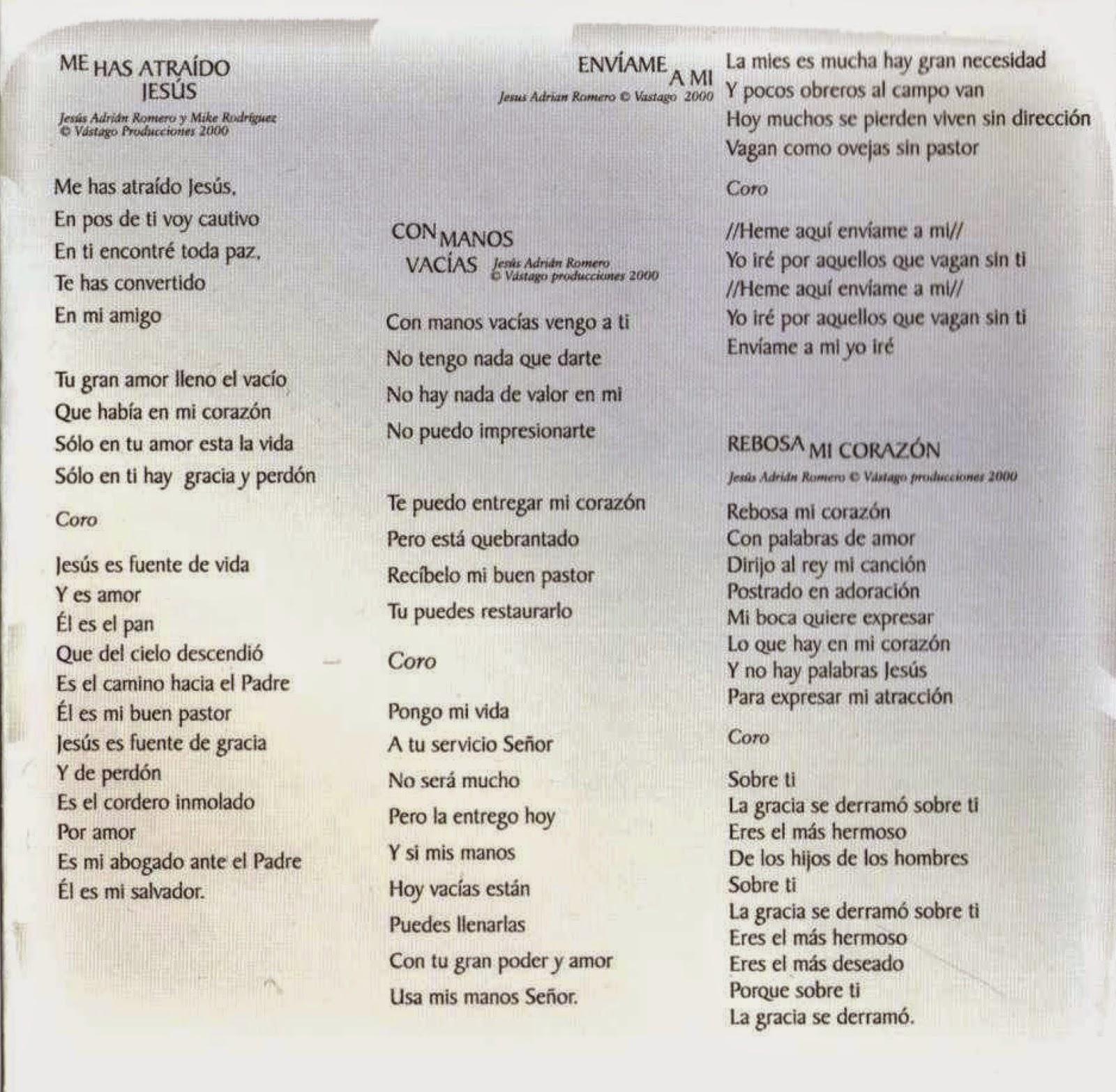 Rebosa mi corazón: Letra, Acordes y Tabs (Jesús Adrián Romero)