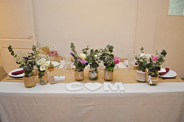 flores mesa decoración boda nupcial novios