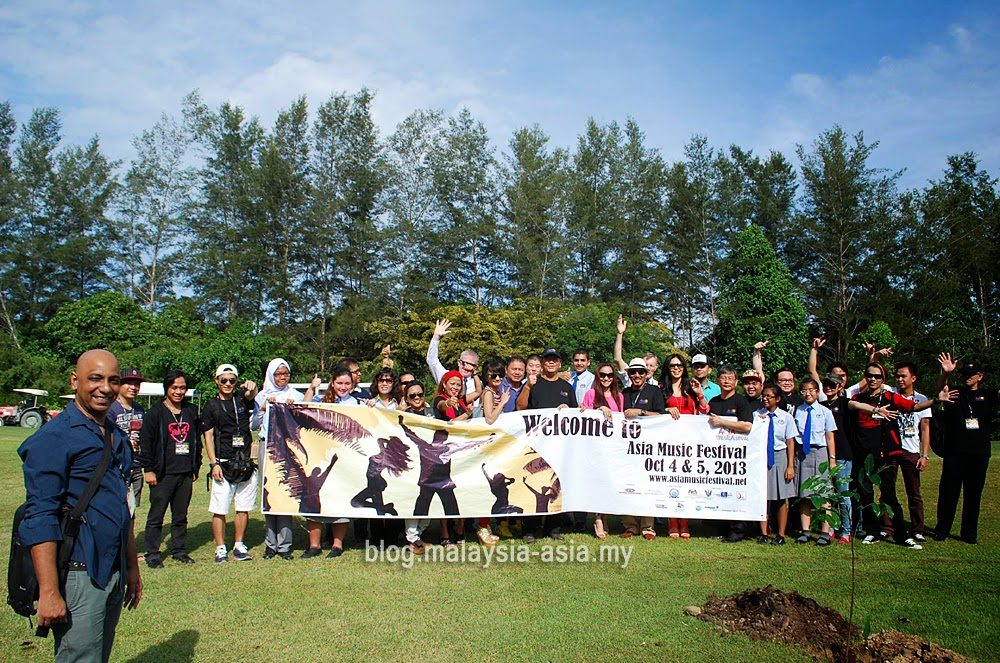 Asia Music Festival 2013 Tree Planting