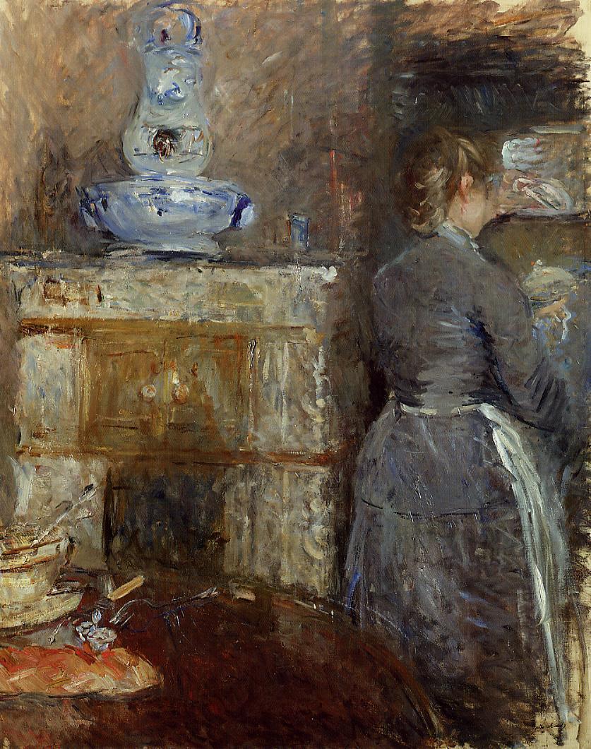 back views of women in art