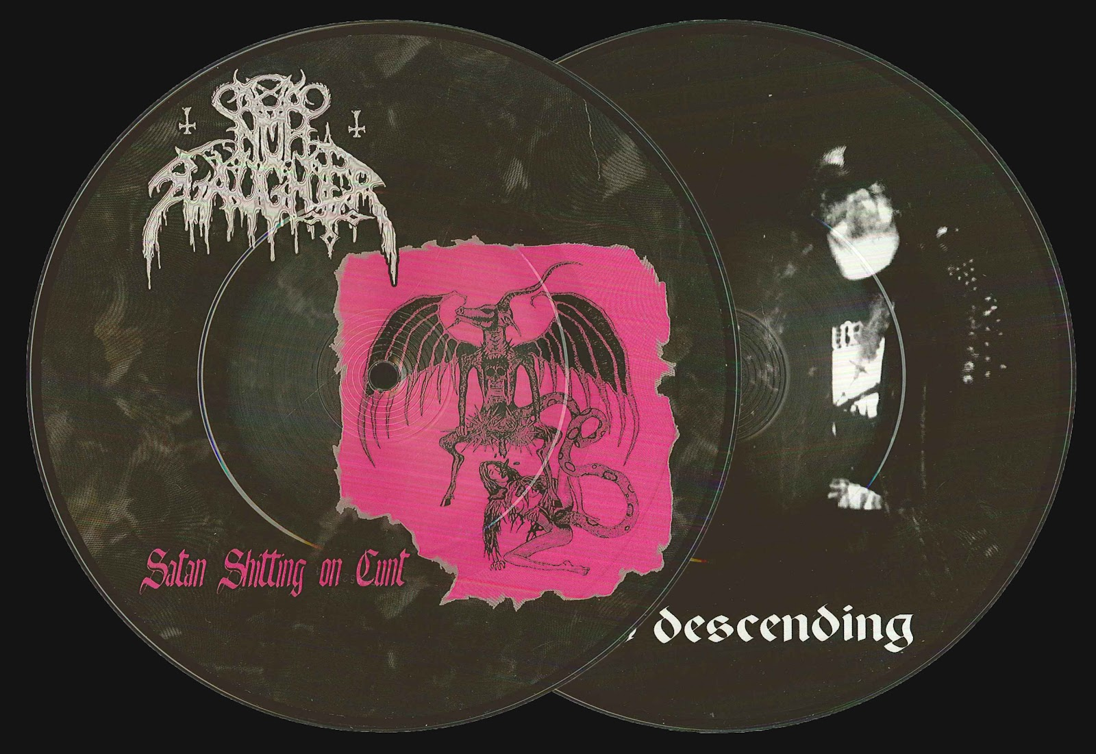 NunSlaughter / Krieg - Satan Shitting On Cunt / Flesh Descending