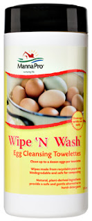 Manna Pro Wipe and wash egg cleansing towelettes