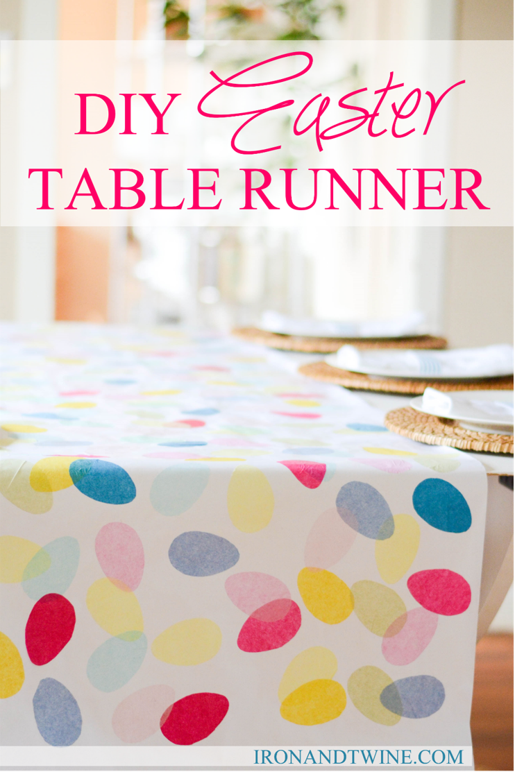 diy easter table runner the handmade