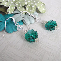 Clover Earrings by MagsBeadsCreation