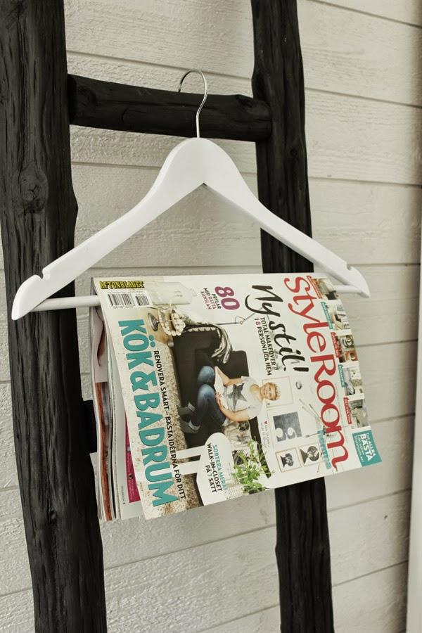 styleroom, tidning, klädstege, hänga tidning på galge