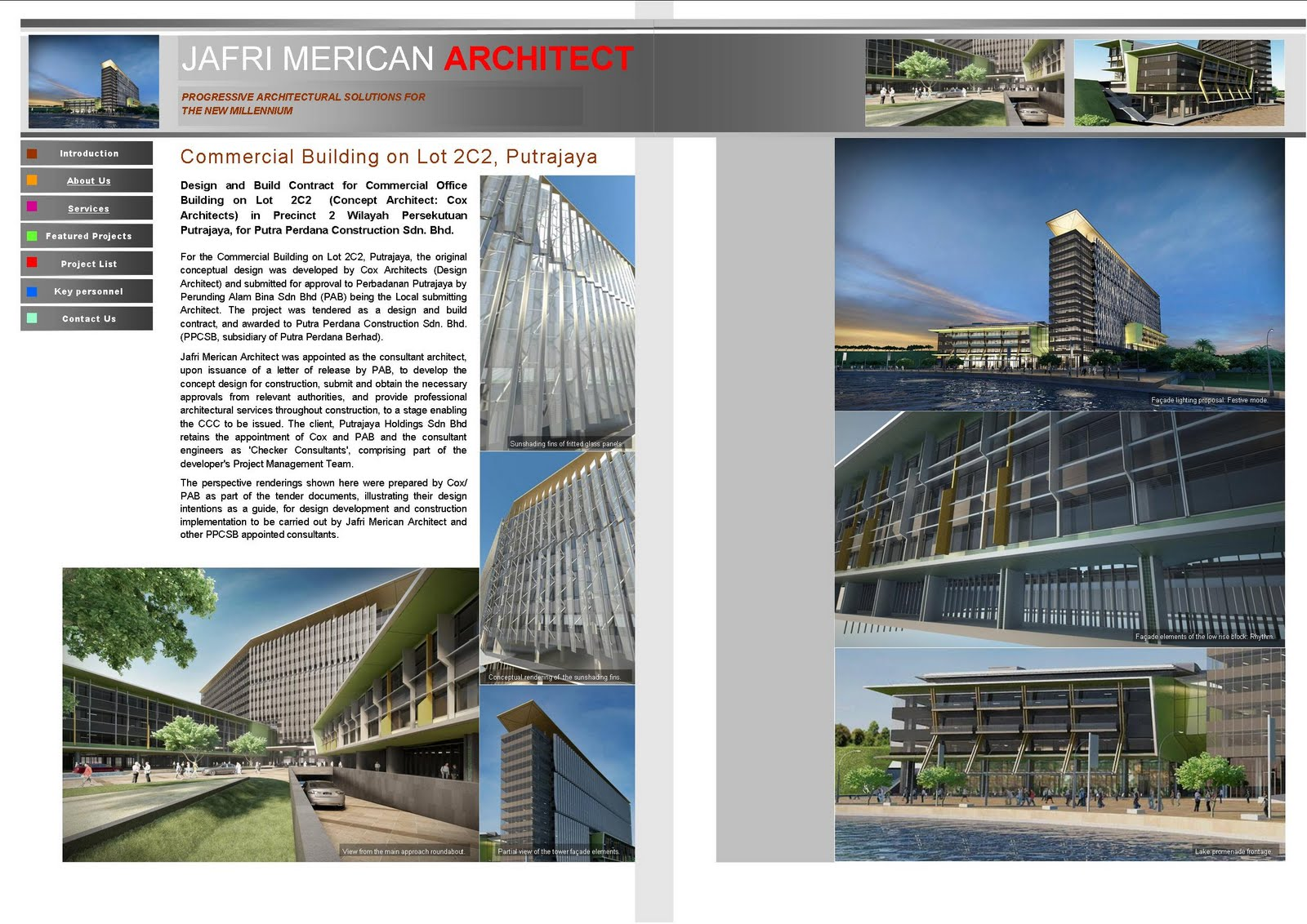 jafri merican architect cv commercial building on lot c putrajaya cv commercial building on lot 2c2 putrajaya
