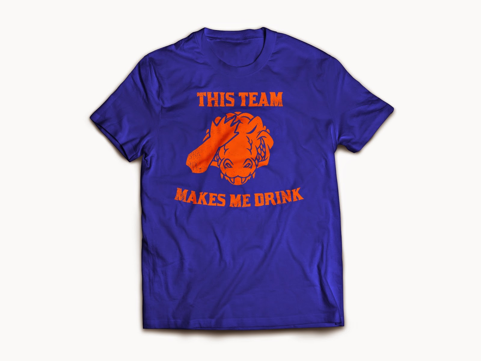 Florida fan gift guide: A drinking shirt with a football problem.