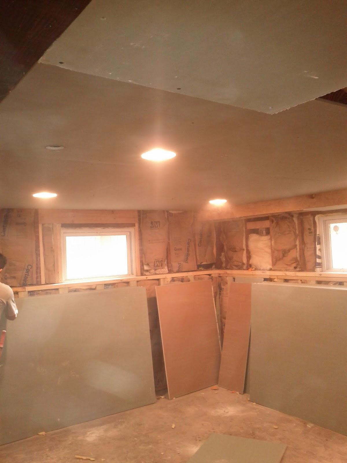 Basement Drywall Hanging