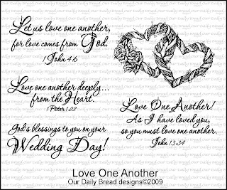 Our Daily Bread designs stamps, Love One Another,