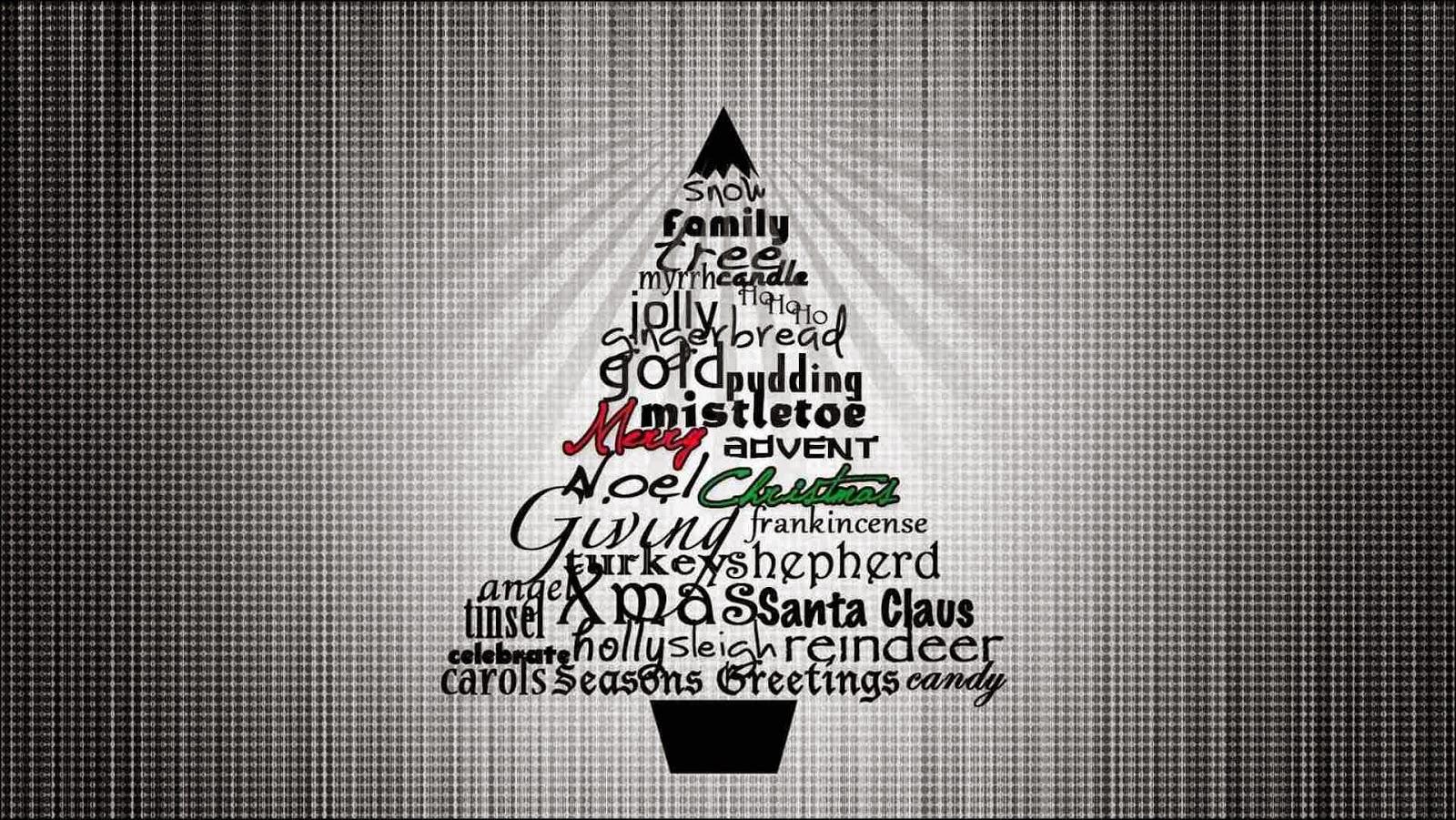 Arbol con frases de Navidad