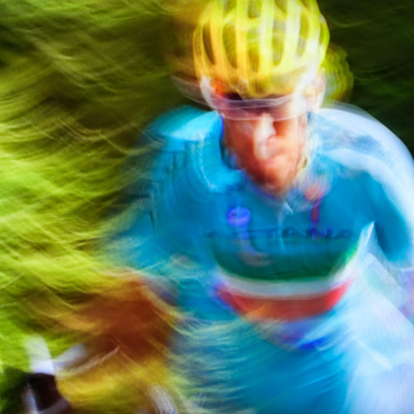 le tour de france, motion blur, blur, abstract, abstraction, tim macauley, photographic art, you won't see this at MoMA, appropriation, found imagery, le tour 2014, tv footage, portrait, timothy Macauley, the light monkey collective, grand cycling tour
