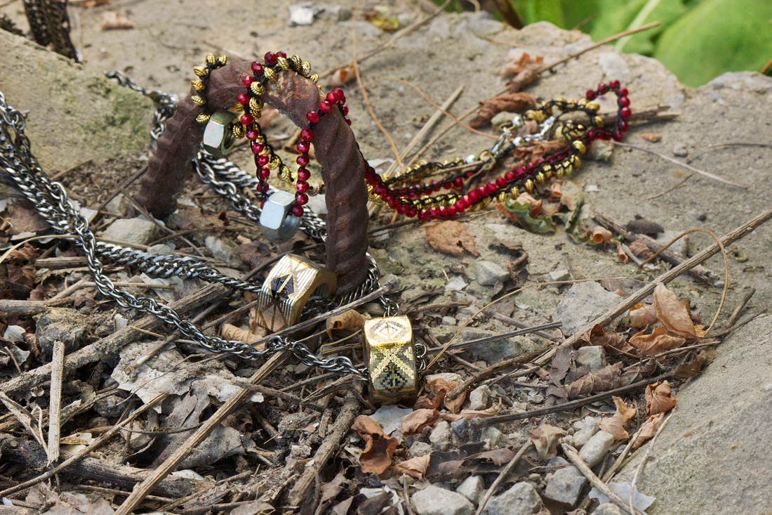 bolt necklaces for men by Quiet Lion Creations
