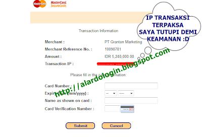 Pembayaran melalui Mastercard di Grantonworld