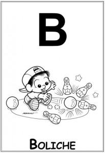 alfabeto turma da monica  baby letra b