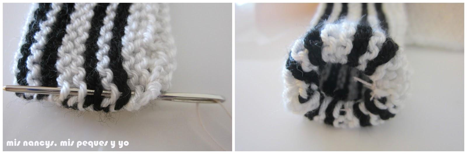 mis nancys, mis peques y yo, tutorial jersey de lana para Nancy, parte delantera, detalle manga bombacha
