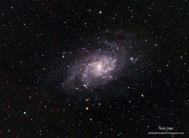 The Triangulum Galaxy lies within the constellation of Triangulum