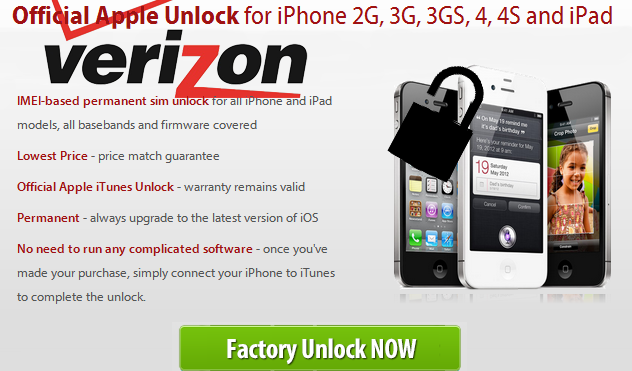Unlock Verizon CDMA iPhone 4S
